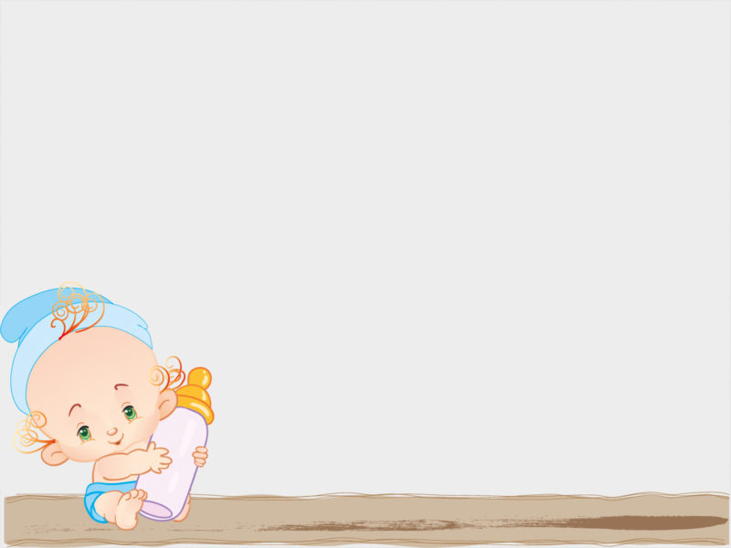 Baby Feed with Milk PPT Backgrounds