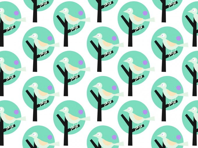 Bird Forest for PPT Templates PPT Backgrounds