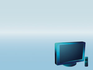 Blue LCD Television High Tech PPT Backgrounds