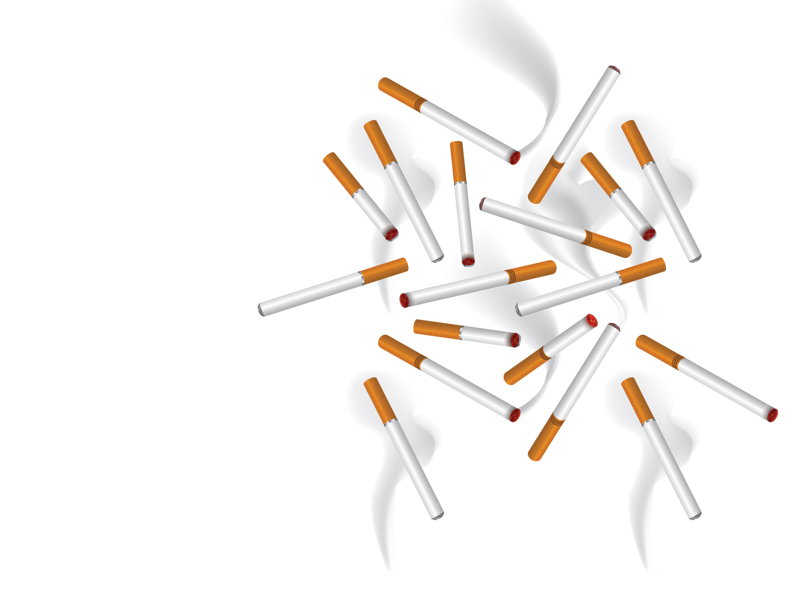 Cigarette Smoke Powerpoint Slide Backgrounds