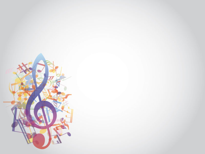 Colored Music Notes Style PPT Backgrounds