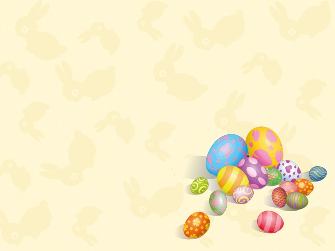 Colorful Eggs PPT Backgrounds