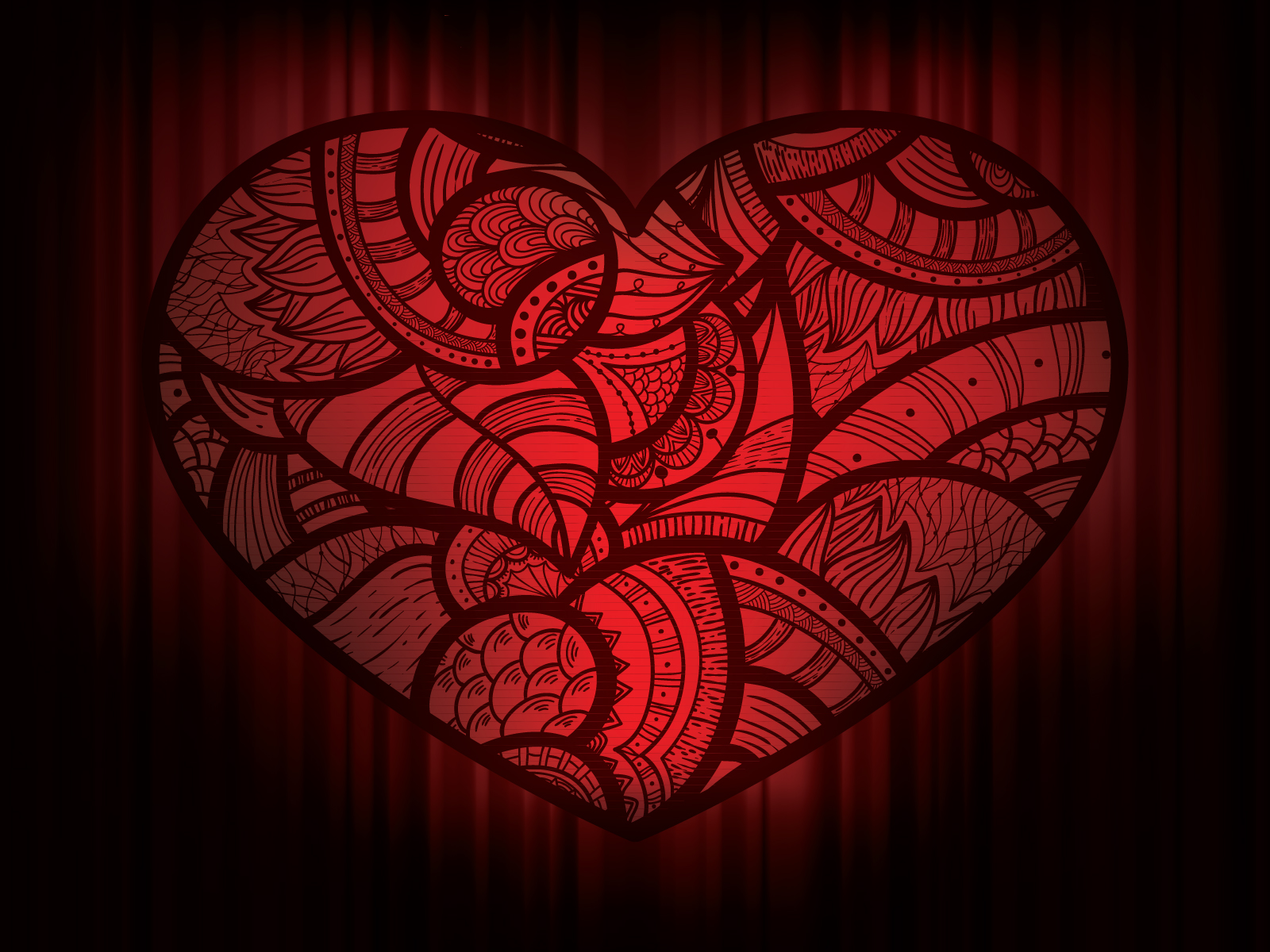Dark Love Powerpoint Backgrounds