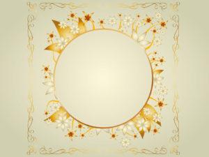 Gold frame design ppt backgrounds