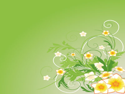 Green Abstract Flower PPT Backgrounds