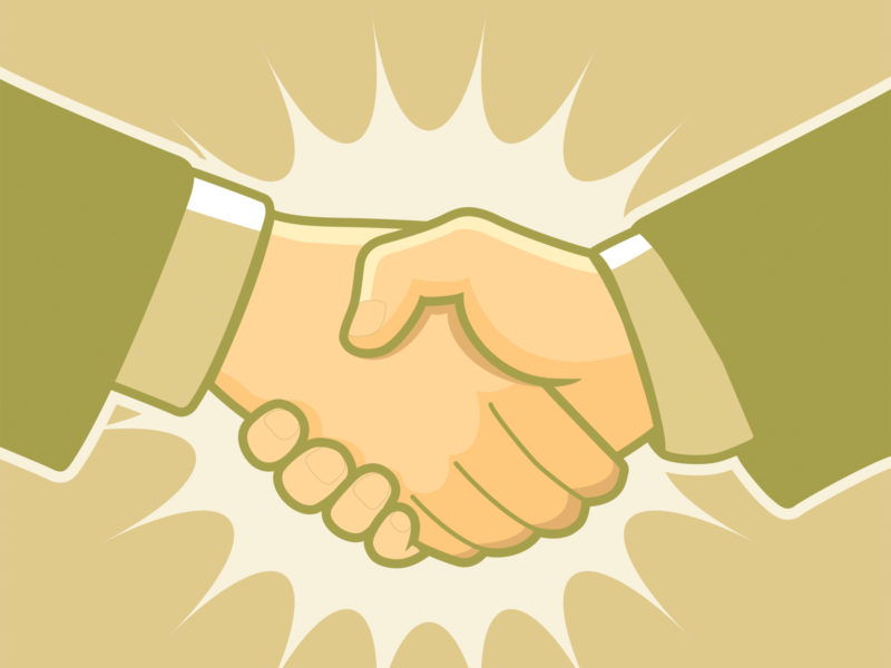 Handshake for Business PPT Template