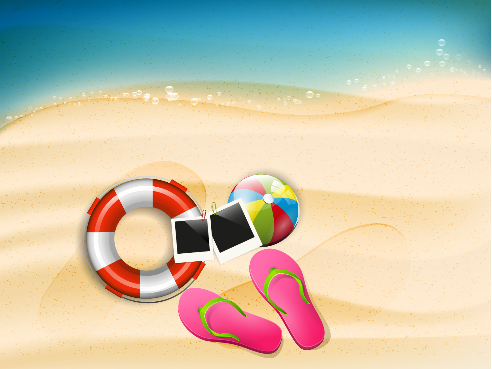 Happy summer holidays PPT Backgrounds - Design, Holiday