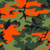 Hunter Orange Army Print Camouflage Backgrounds