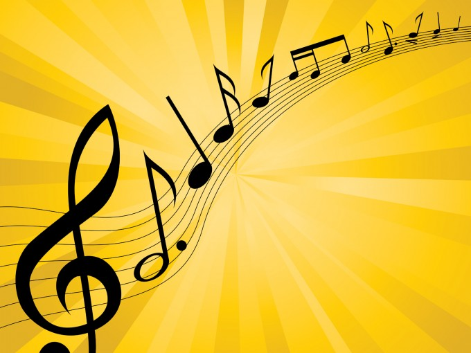 Introductions Music Melody PPT Backgrounds