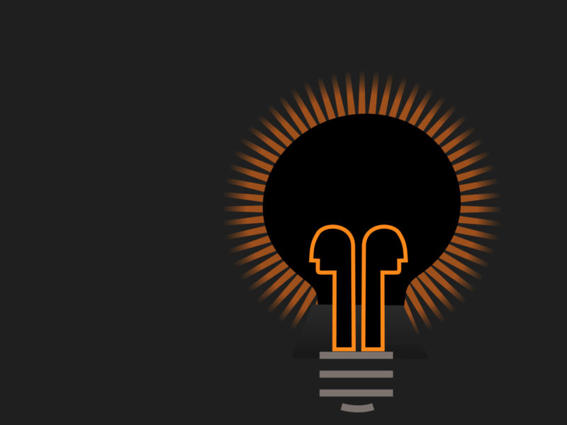 Light Bulb in Dark PPT Backgrounds