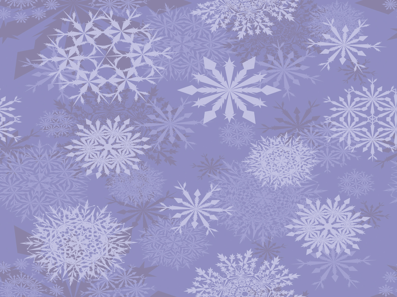 Light Purple Snowflakes Backgrounds