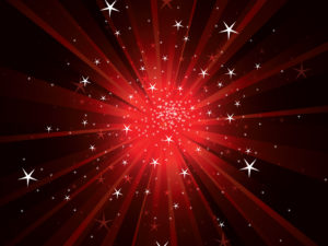 Light Rays with Sparkles Powerpoint Backgrounds