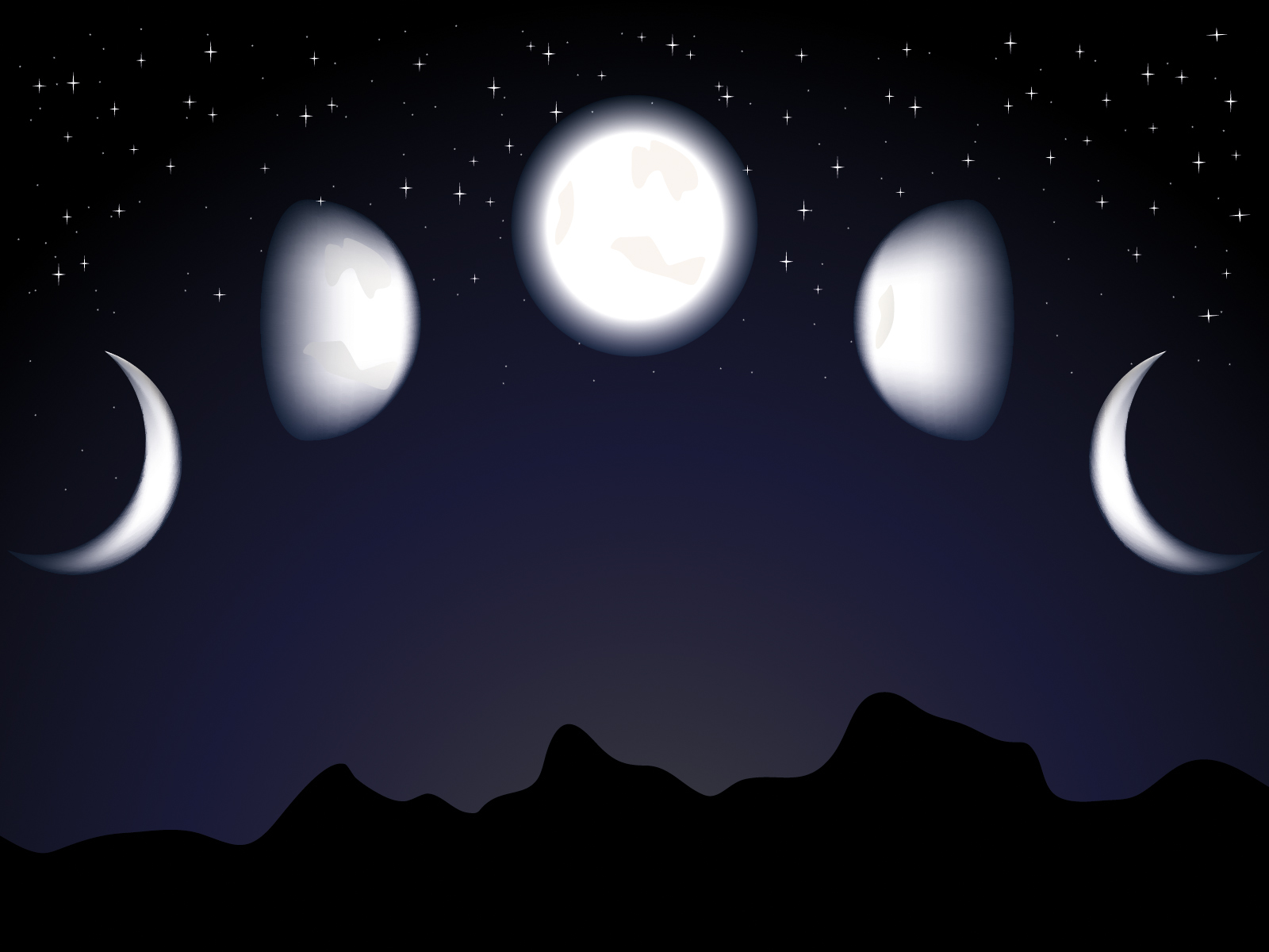 Moon And Night Ppt Backgrounds Design Nature Templates