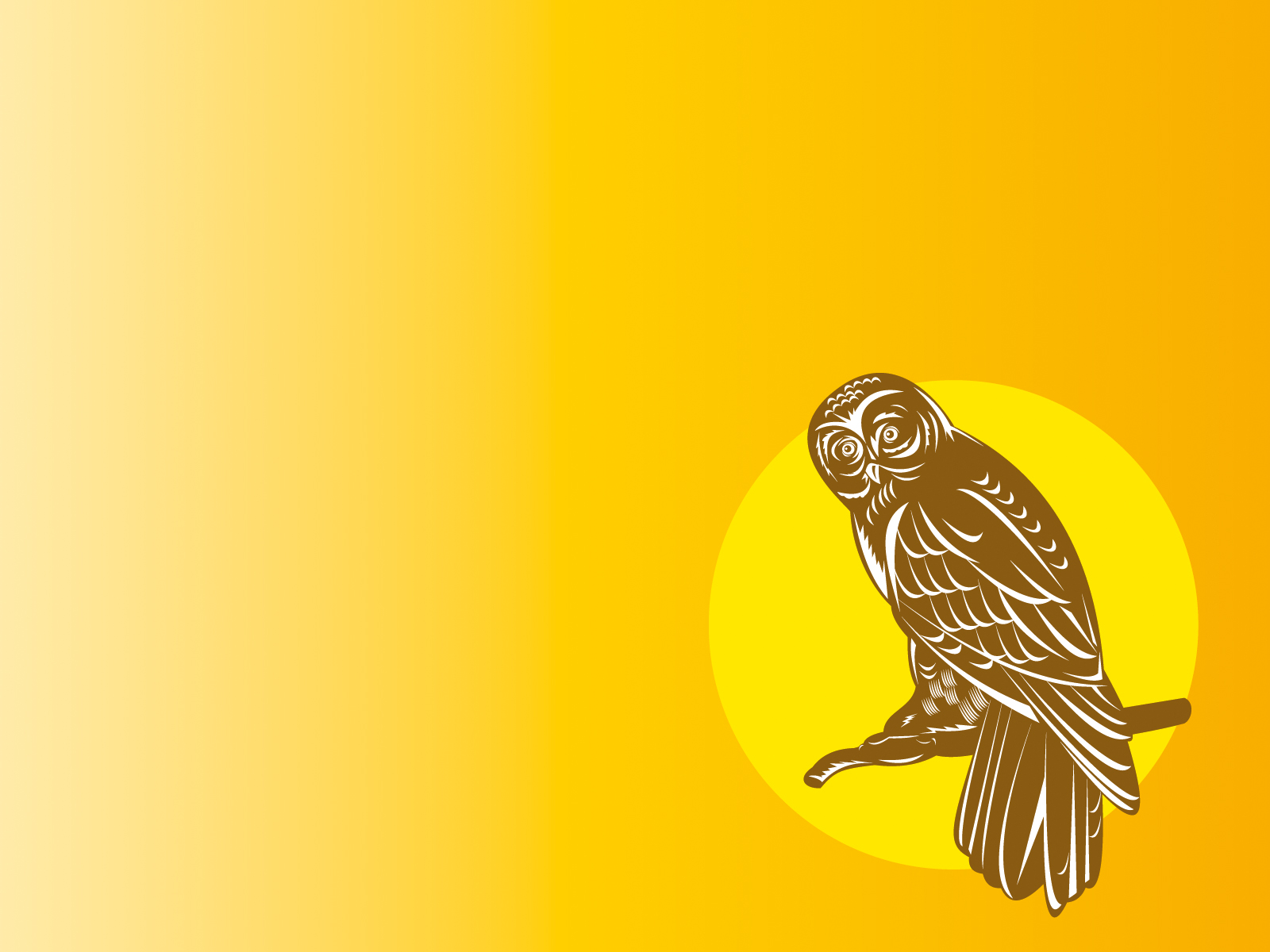 owl clipart backgrounds animals yellow templates free