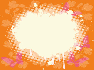 Pink and orange butterfly frames backgrounds