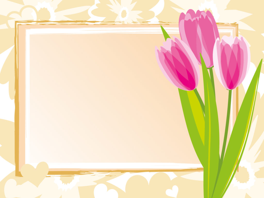 spring flower on green powerpoint templates flowers free ppt