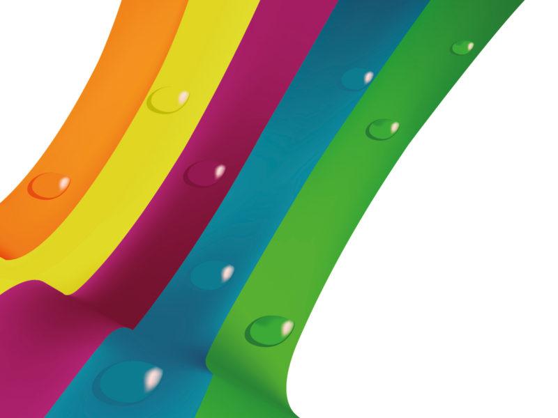 Rainbow Line Drops PPT Backgrounds