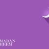 Ramadan Kareem on Purple Backgrounds