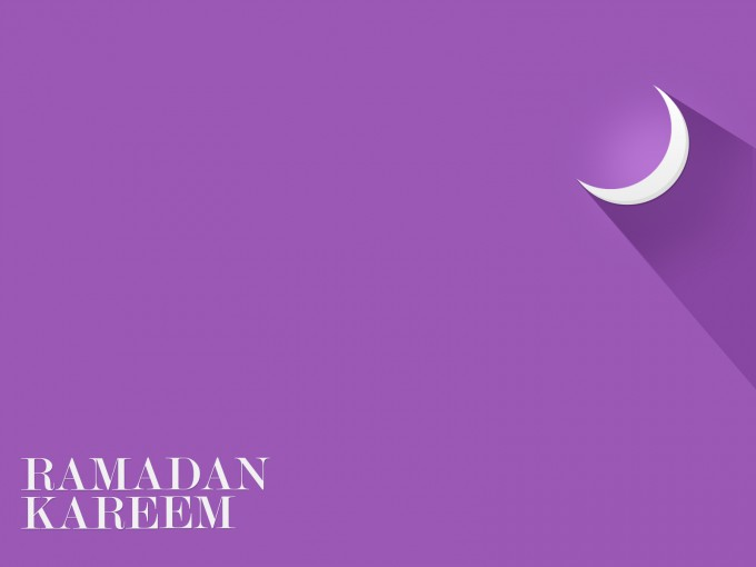 Ramadan Kareem on Purple PPT Backgrounds