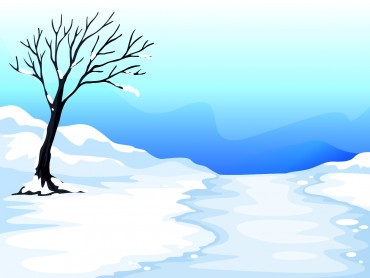 Snow and Tree Illustration