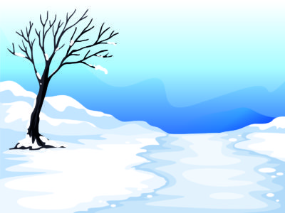 Snow and Tree Illustration Backgrounds