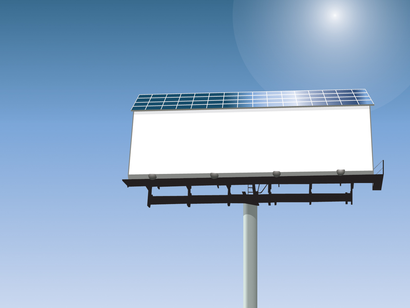 Solar powered billboard ppt design