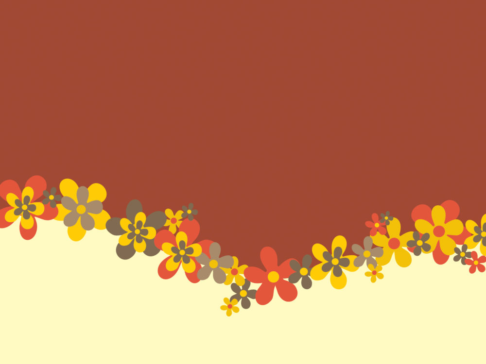 Spring Flowers Design Ppt Backgrounds Brown Flowers