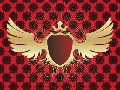 Winged Shield PPT Slide Backgrounds