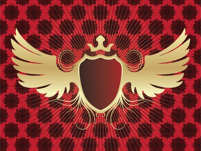 Winged Shield Powerpoint Slide PPT Backgrounds