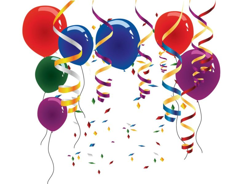 Balloons and streamers backgrounds