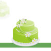 Birthday Green Cake PPT Backgrounds