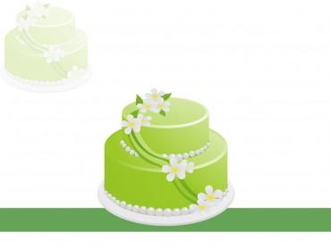 Birthday Green Cake