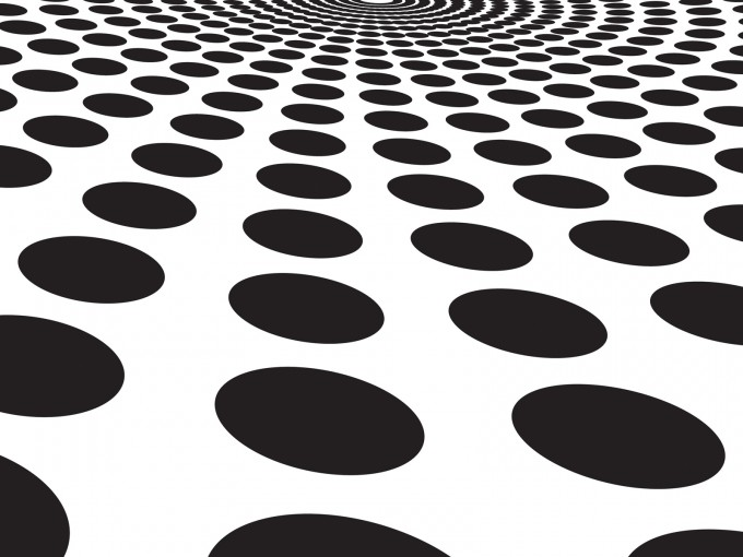 Black circles blast PPT Backgrounds