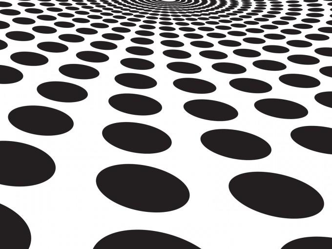 Black circles blast PPT Backgrounds