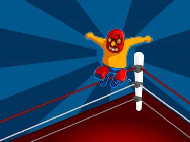 Boxing match game ring