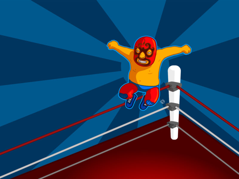 Boxing match game ring ppt backgrounds