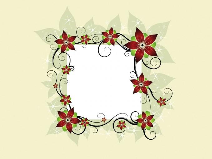 Flower Design Card Powerpoint Template PPT Backgrounds