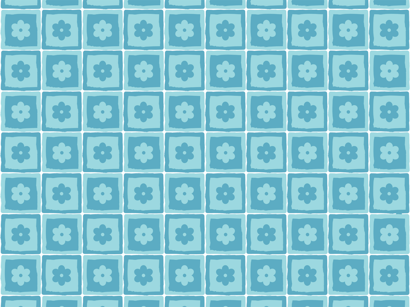 Flower Squares Power Background