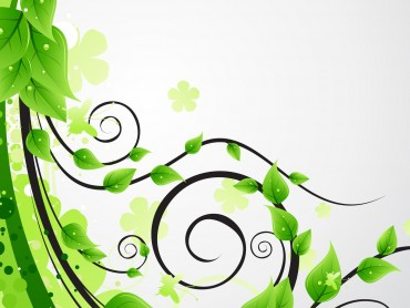 Green floral leaves