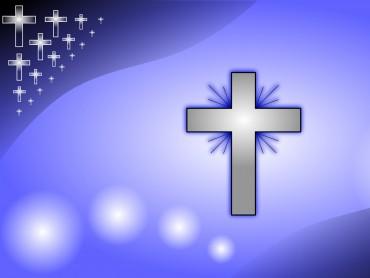 Iceblue Glowing Cross