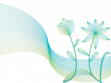 Line flowers with wind lines