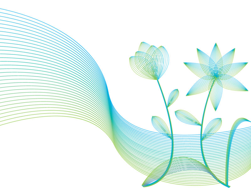 Line flowers with wind lines Backgrounds