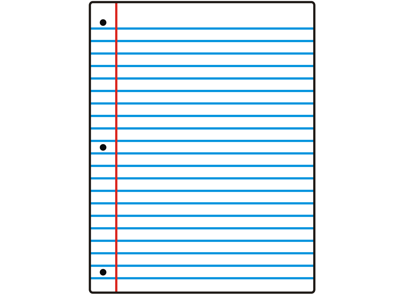 lined paper background for word – Notebook Paper Template
