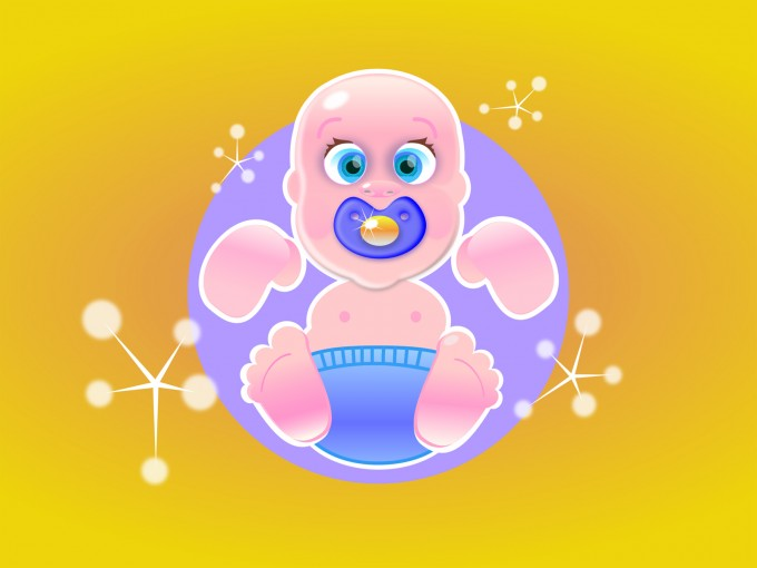 Lucky baby PPT Backgrounds