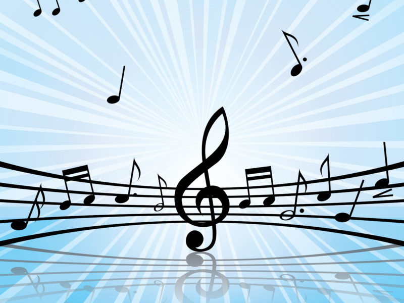 Music Melody Art Backgrounds PPT