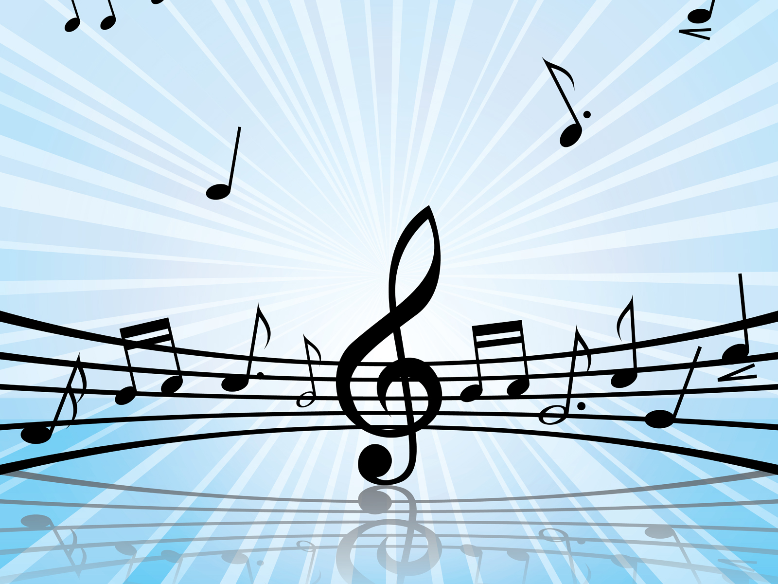 music melody art backgrounds music templates free ppt