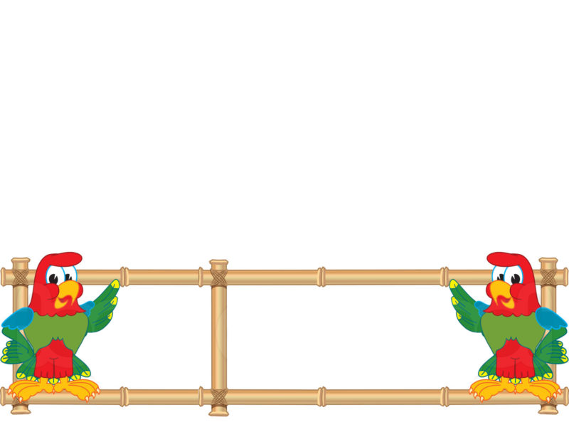 Parrot mascot with bamboo banner ppt backgrounds