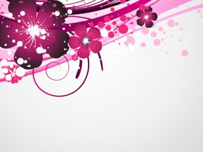 Purple Floral Design PPT Backgrounds