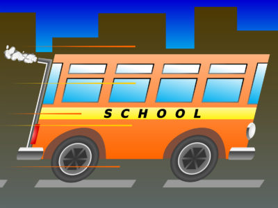 School Bus Transportation Backgrounds