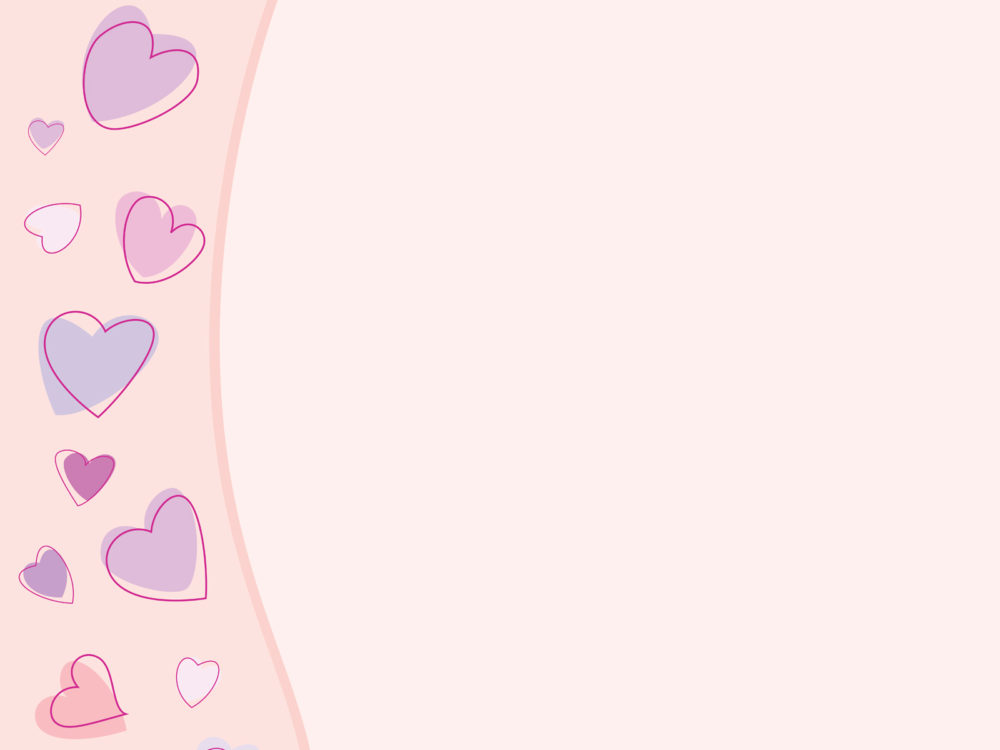 scribble hearts powerpoint slide ppt backgrounds - love, pink, Powerpoint templates